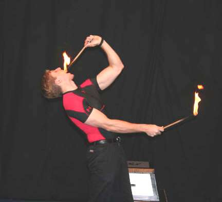 magic fire eating